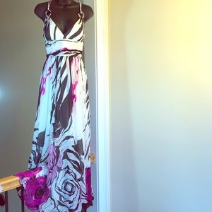 AIDAN MATTOX sz 6 maxi floral dress